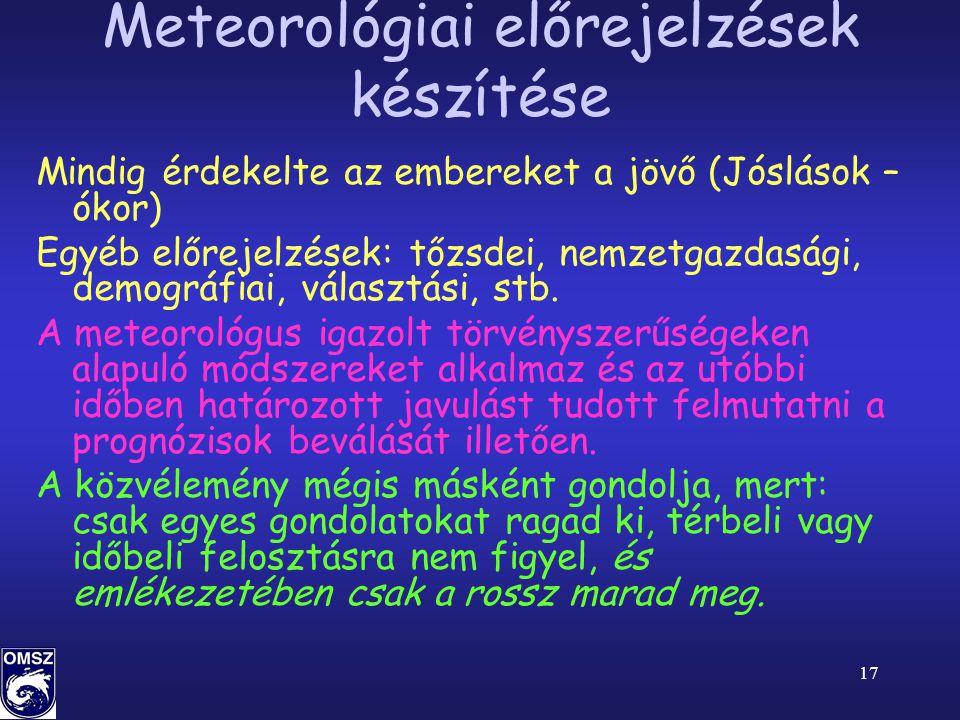 Meteorológiai előrejelzések készítése