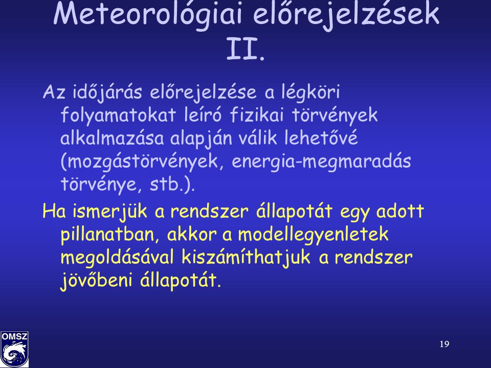 Meteorológiai előrejelzések II.