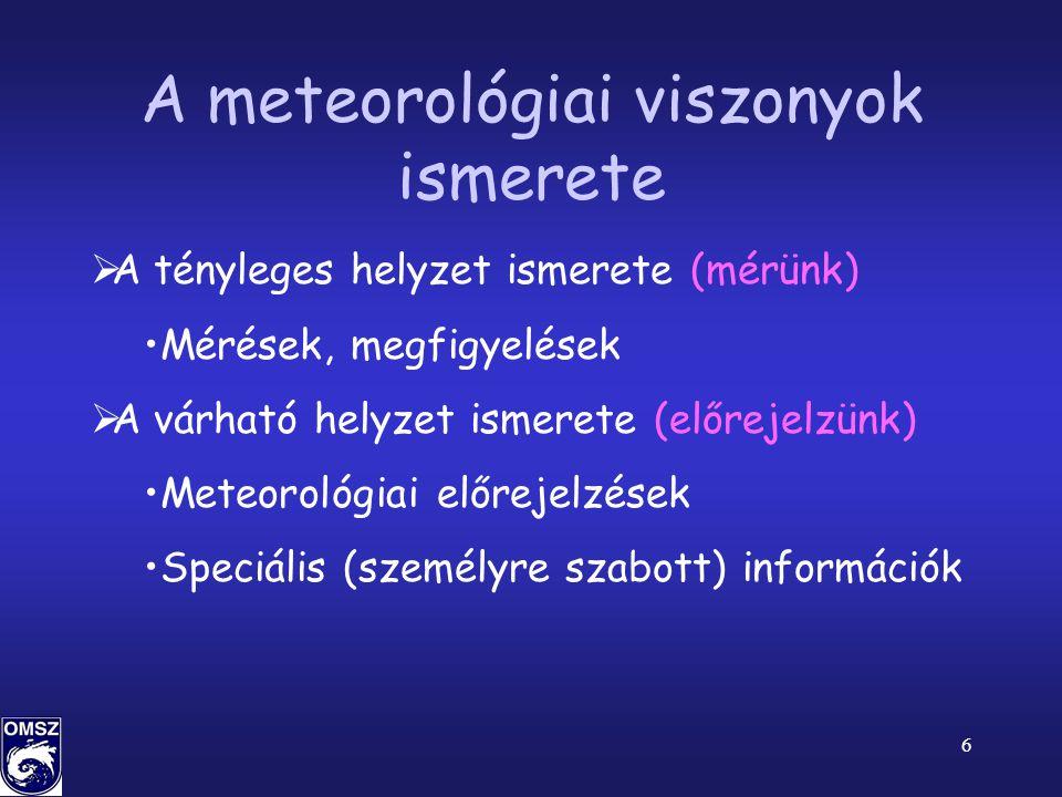 A meteorológiai viszonyok ismerete