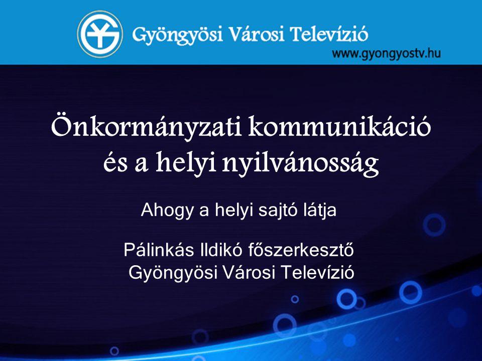 Önkormányzati kommunikáció és a helyi nyilvánosság