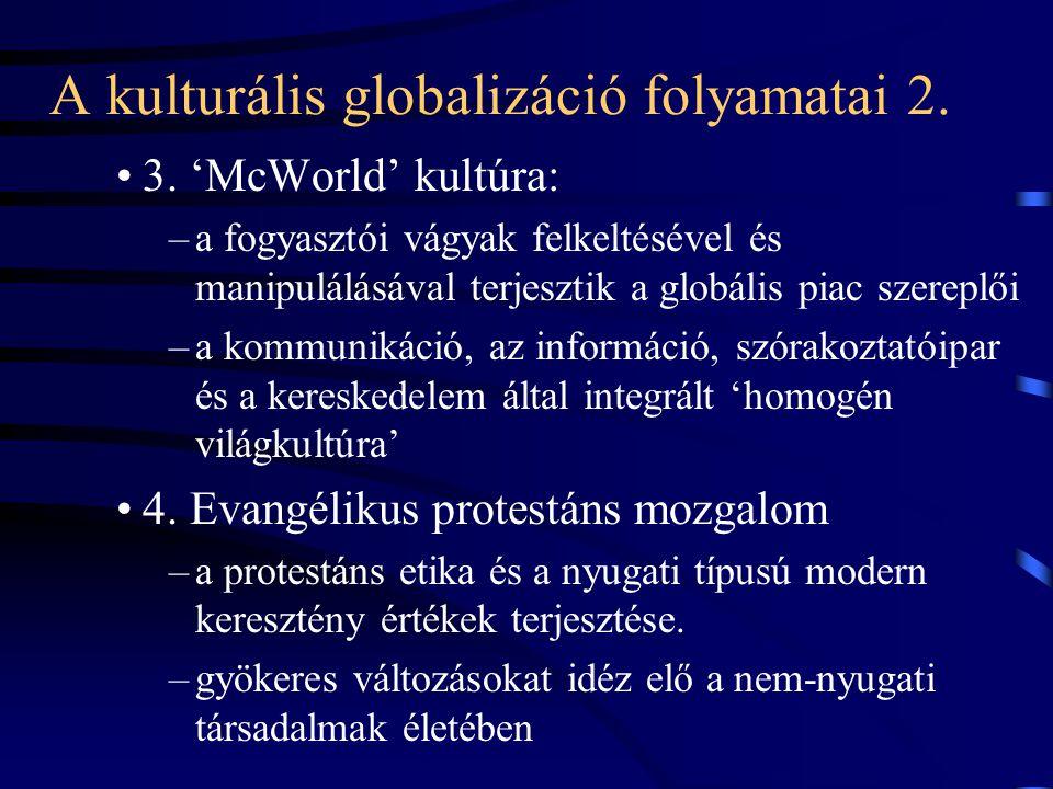 A kulturális globalizáció folyamatai 2.