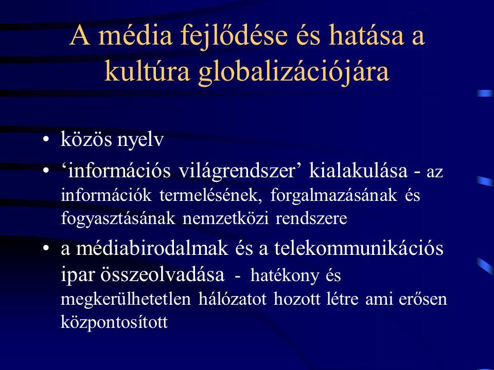 A média fejlődése és hatása a kultúra globalizációjára