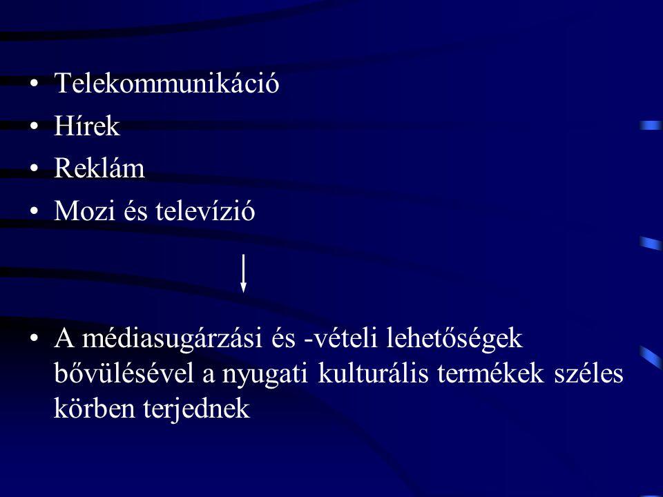Telekommunikáció Hírek. Reklám. Mozi és televízió.