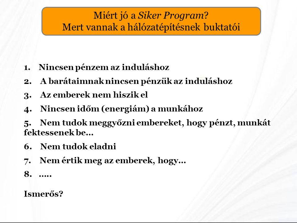 Miért jó a Siker Program Mert vannak a hálózatépítésnek buktatói