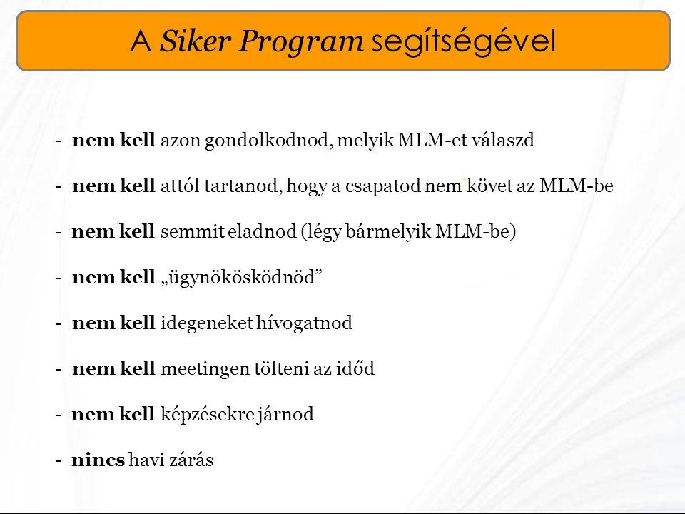 A Siker Program segítségével