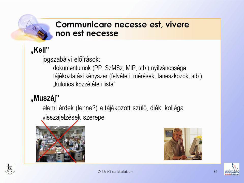 Communicare necesse est, vivere non est necesse