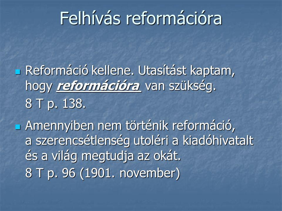 Felhívás reformációra
