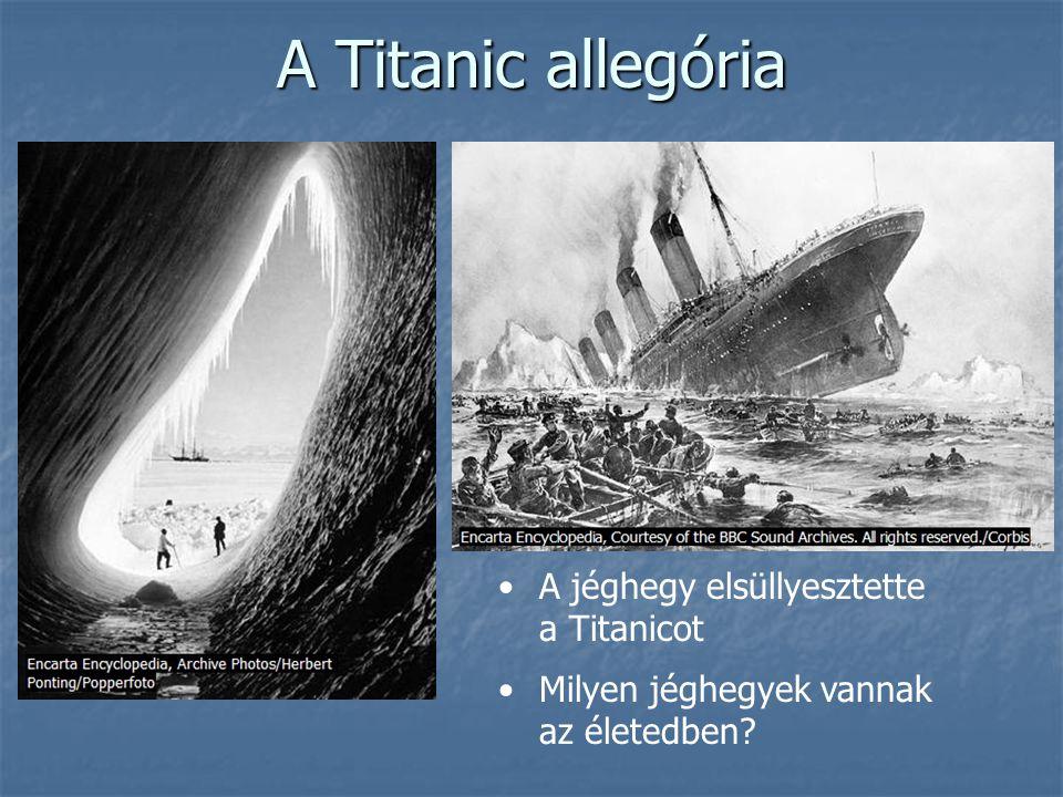 A Titanic allegória A jéghegy elsüllyesztette a Titanicot
