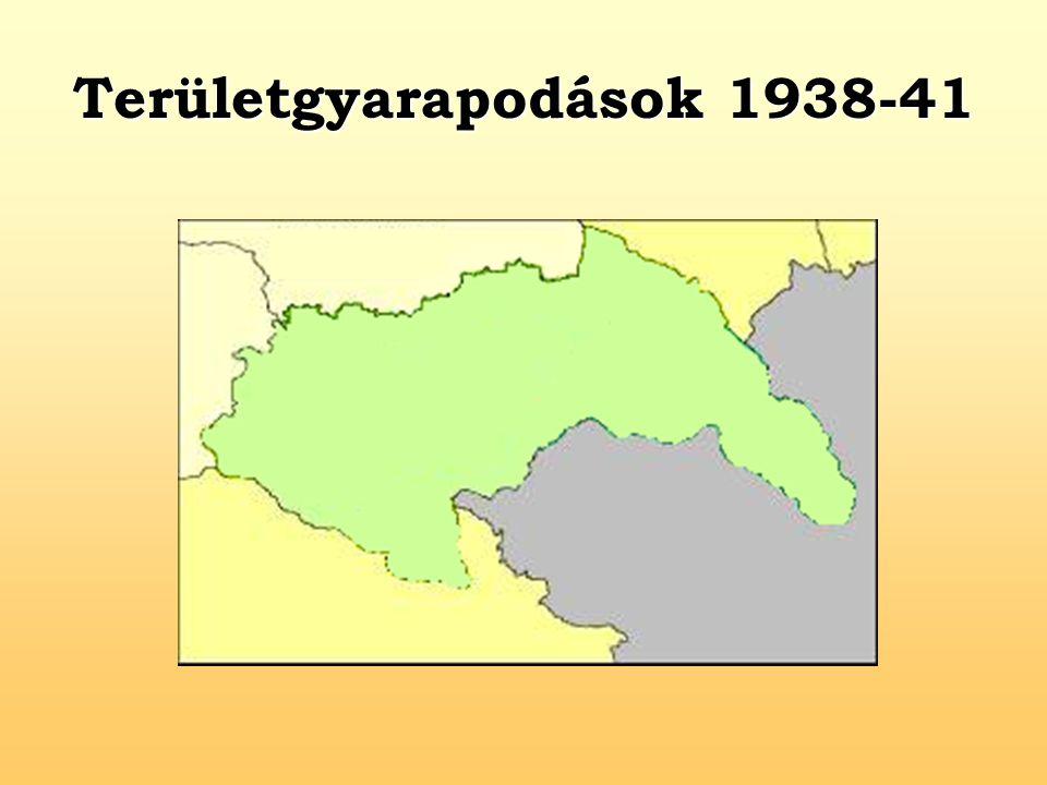 Területgyarapodások 1938-41