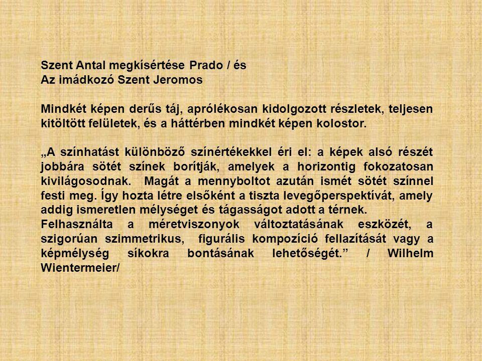 Szent Antal megkísértése Prado / és