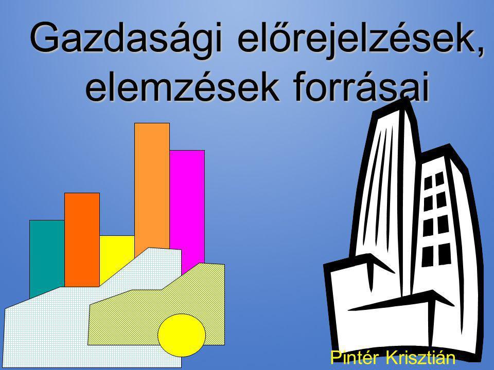 Gazdasági előrejelzések, elemzések forrásai