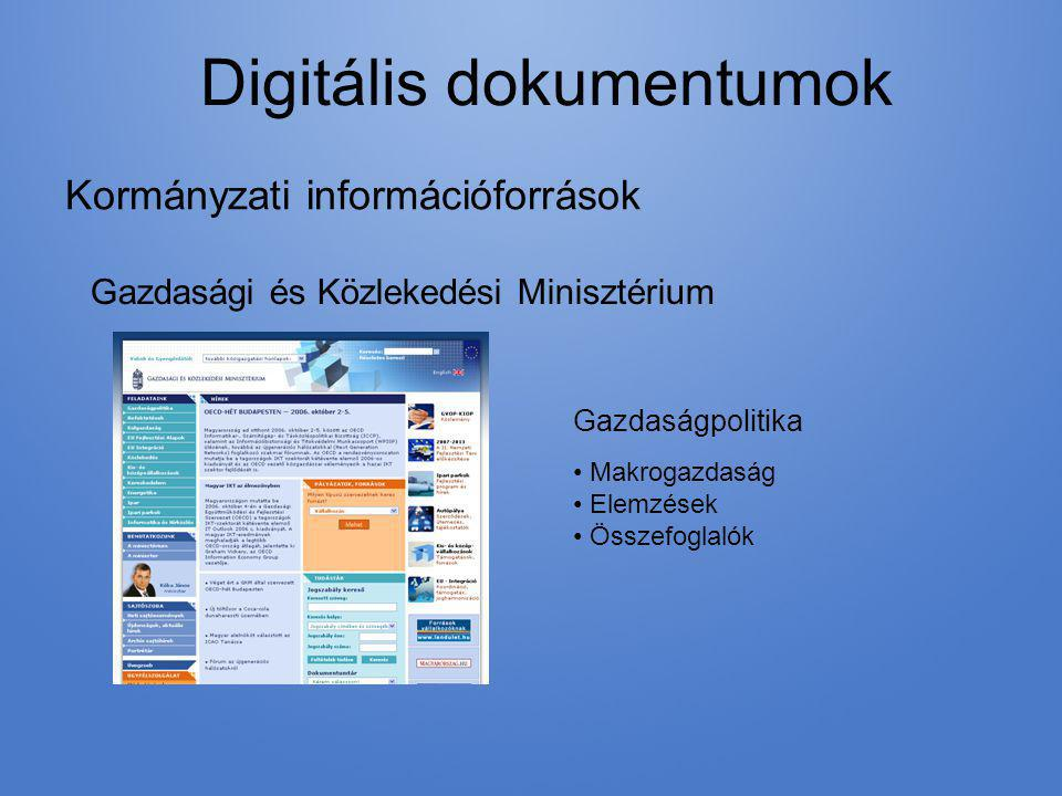 Digitális dokumentumok