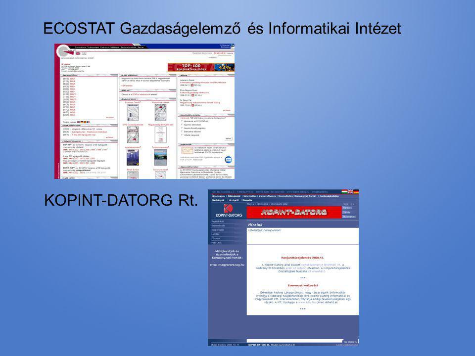 ECOSTAT Gazdaságelemző és Informatikai Intézet