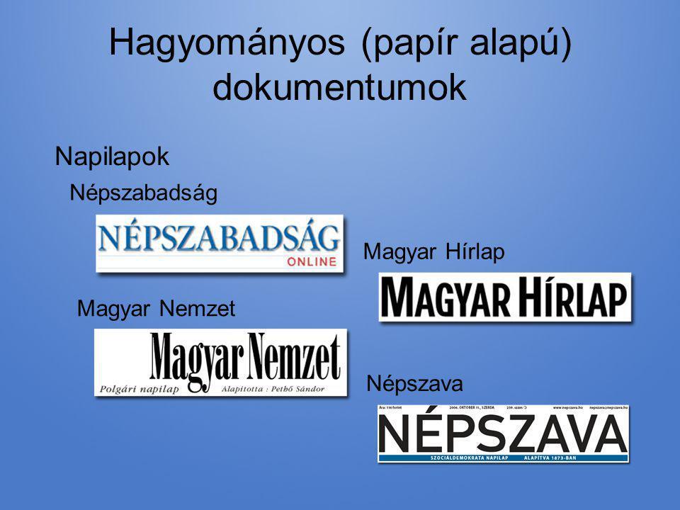 Hagyományos (papír alapú) dokumentumok
