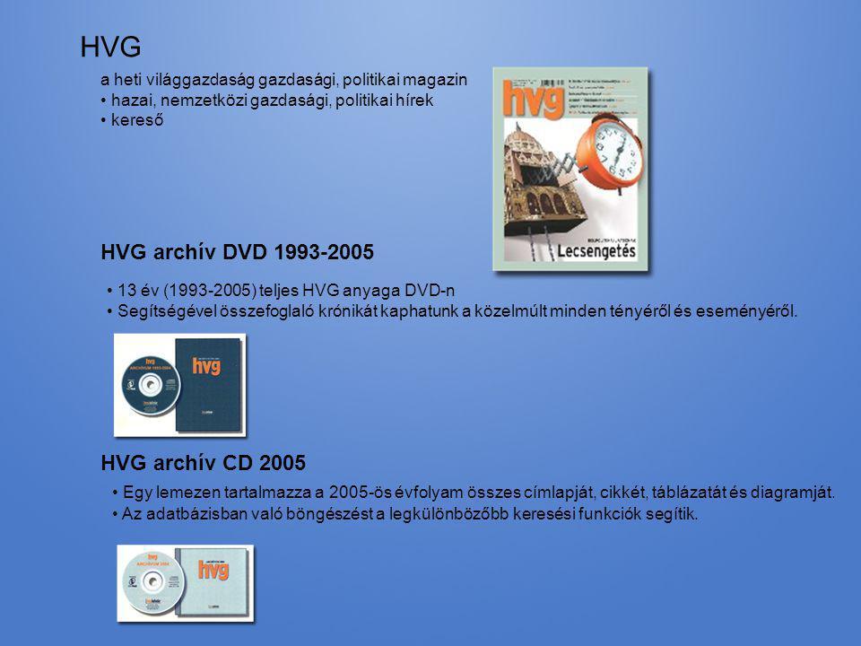 HVG HVG archív DVD 1993-2005 HVG archív CD 2005