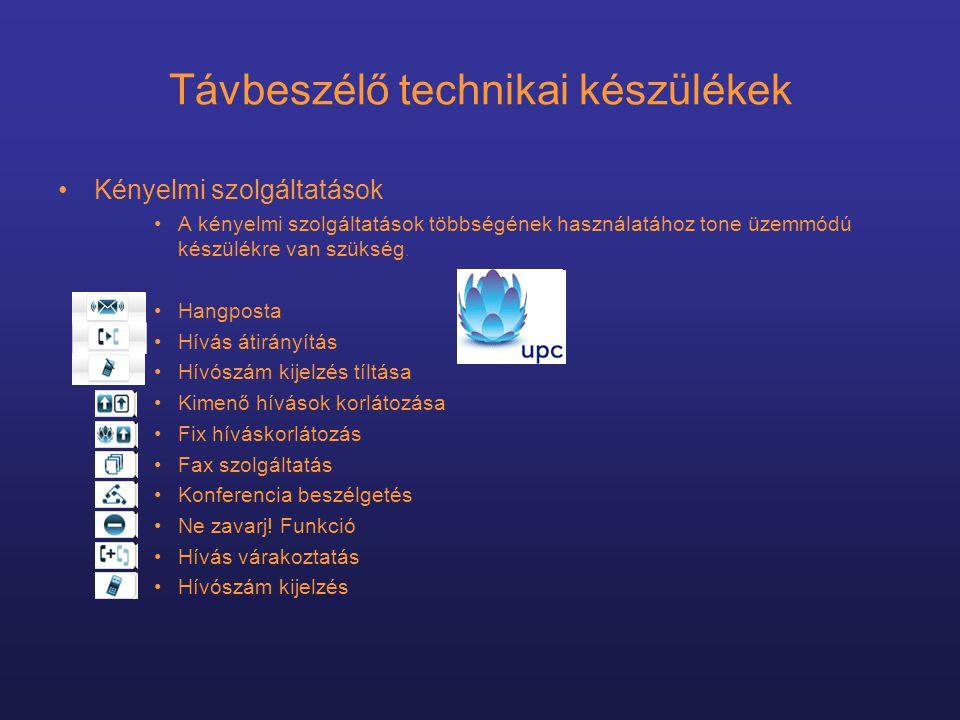 Távbeszélő technikai készülékek