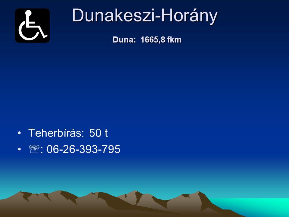 Dunakeszi-Horány Duna: 1665,8 fkm