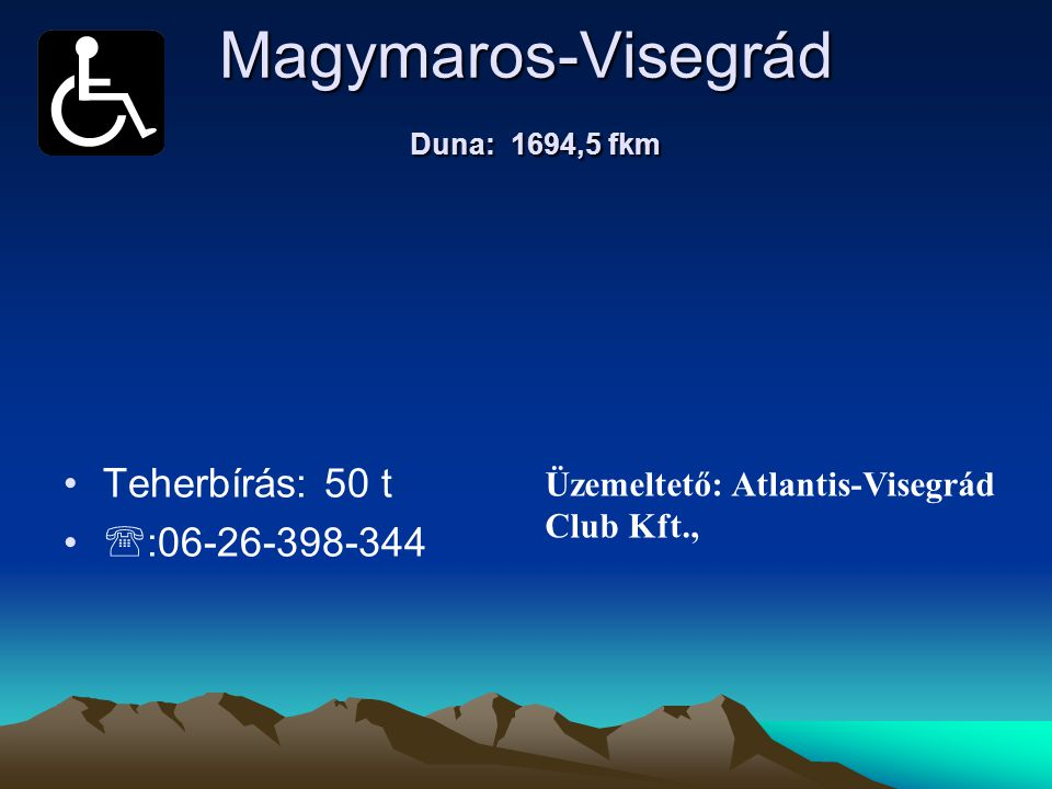Magymaros-Visegrád Duna: 1694,5 fkm