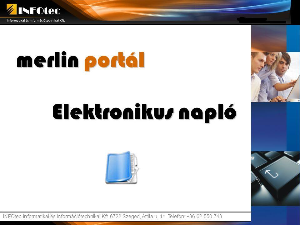 merlin portál Elektronikus napló