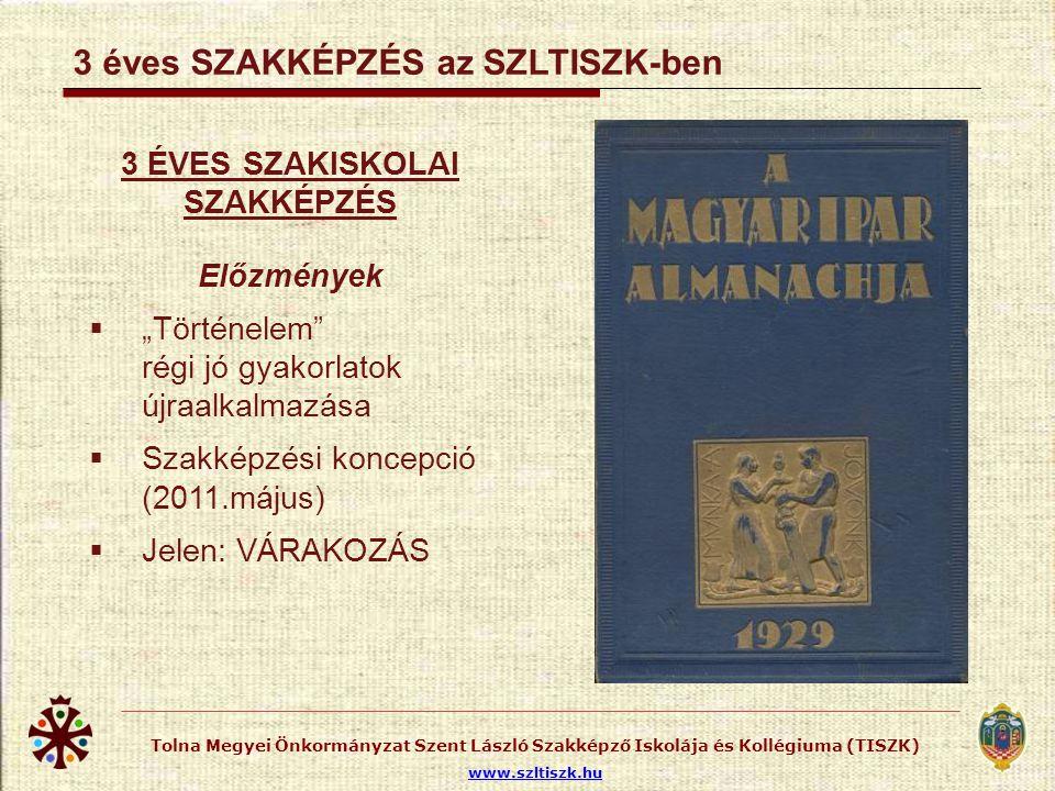 SZLTISZK KÉPZÉSEK a 2011/2012. tanévben