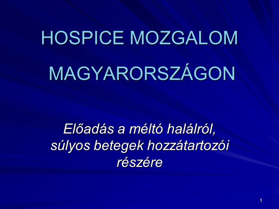 HOSPICE MOZGALOM MAGYARORSZÁGON