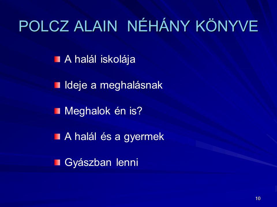 POLCZ ALAIN NÉHÁNY KÖNYVE