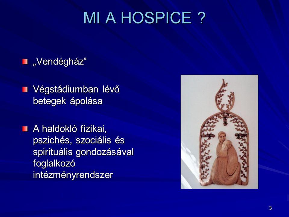 """MI A HOSPICE """"Vendégház Végstádiumban lévő betegek ápolása"""