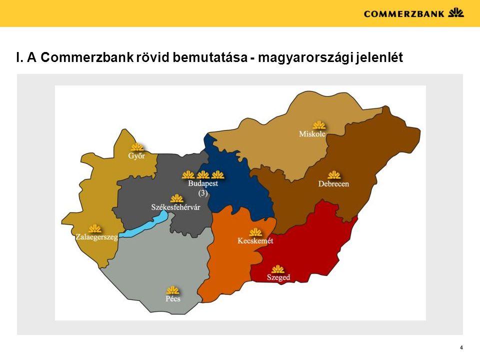 I. A Commerzbank rövid bemutatása - magyarországi jelenlét