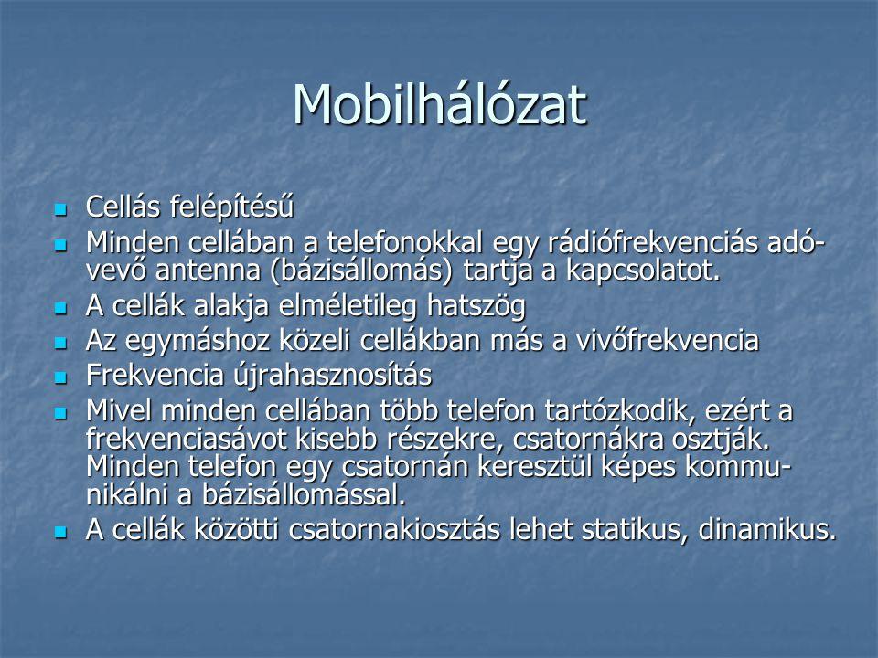 Mobilhálózat Cellás felépítésű