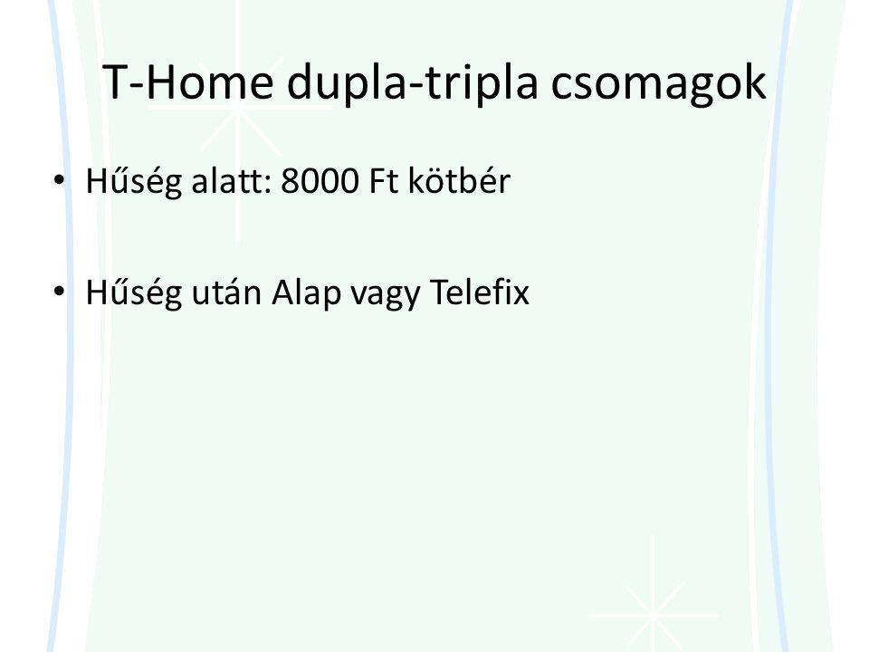 T-Home dupla-tripla csomagok