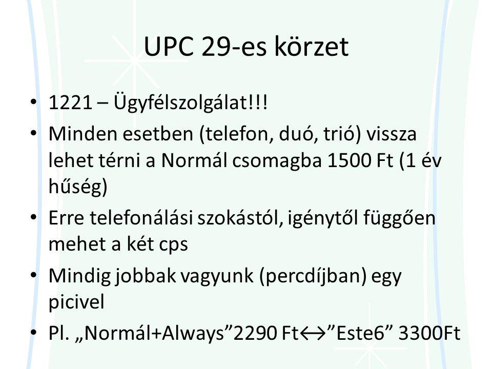 UPC 29-es körzet 1221 – Ügyfélszolgálat!!!