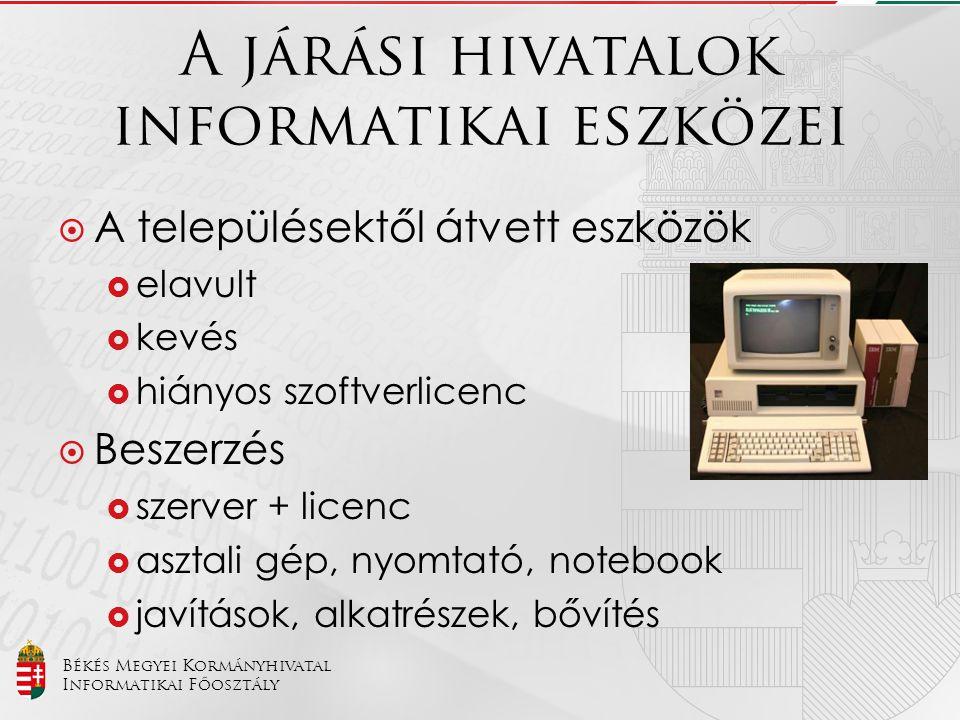 A járási hivatalok informatikai eszközei
