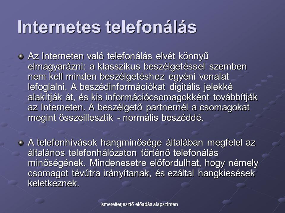 Internetes telefonálás