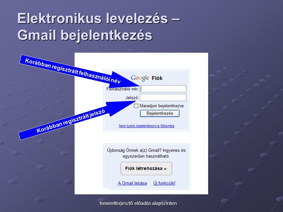 Elektronikus levelezés – Gmail bejelentkezés