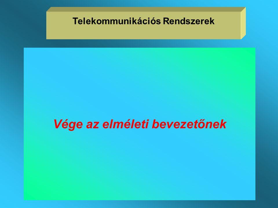Telekommunikációs Rendszerek Vége az elméleti bevezetőnek