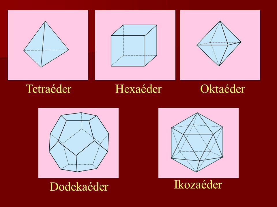 Tetraéder Hexaéder Oktaéder Ikozaéder Dodekaéder