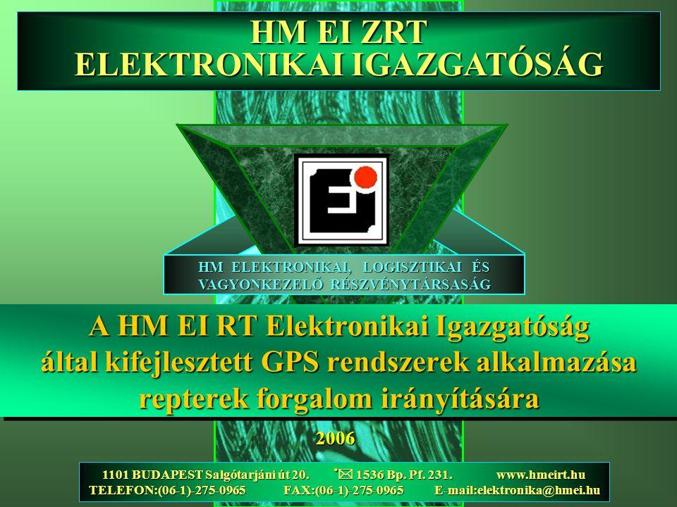 A HM EI RT Elektronikai Igazgatóság által kifejlesztett GPS rendszerek alkalmazása repterek forgalom irányítására