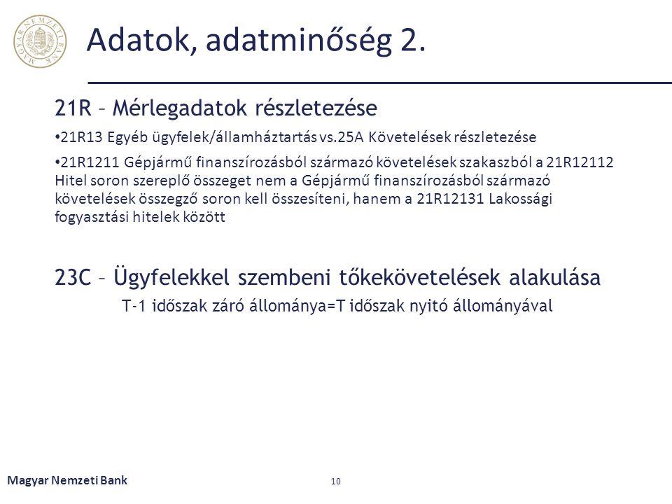T-1 időszak záró állománya=T időszak nyitó állományával