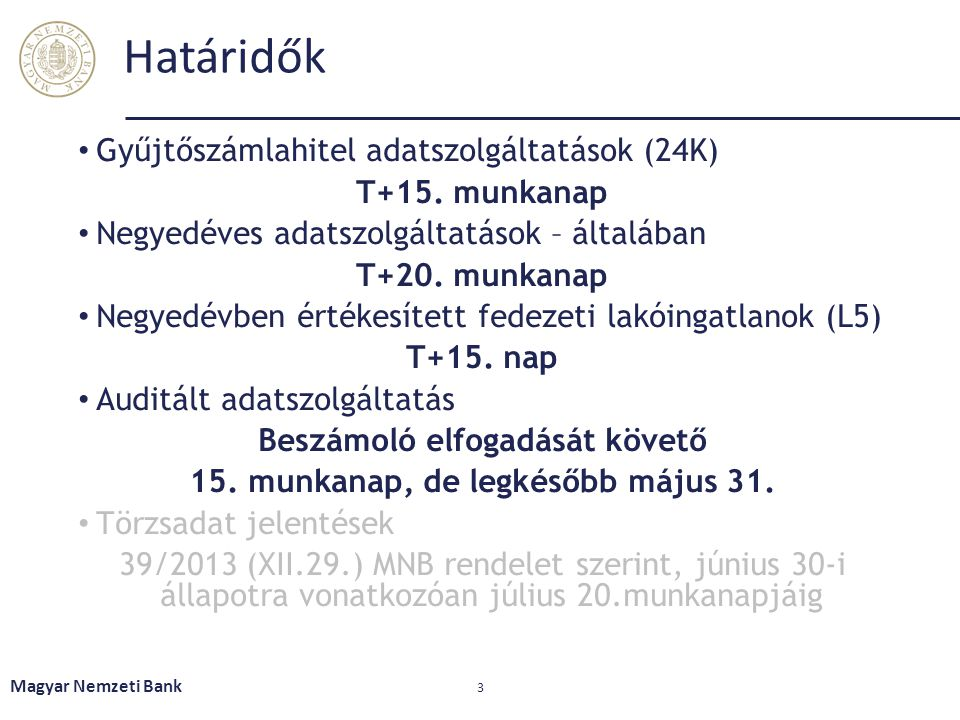 Beszámoló elfogadását követő 15. munkanap, de legkésőbb május 31.