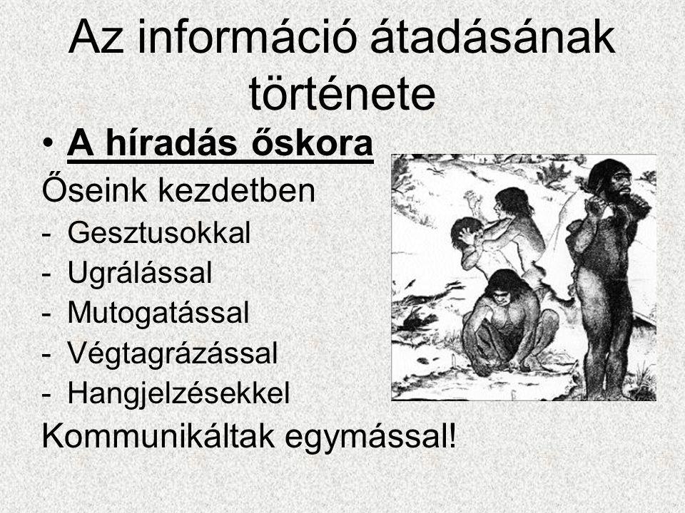 Az információ átadásának története
