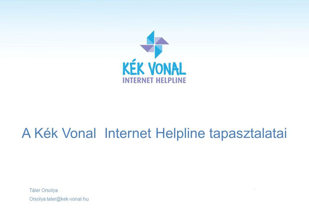 A Kék Vonal Internet Helpline tapasztalatai