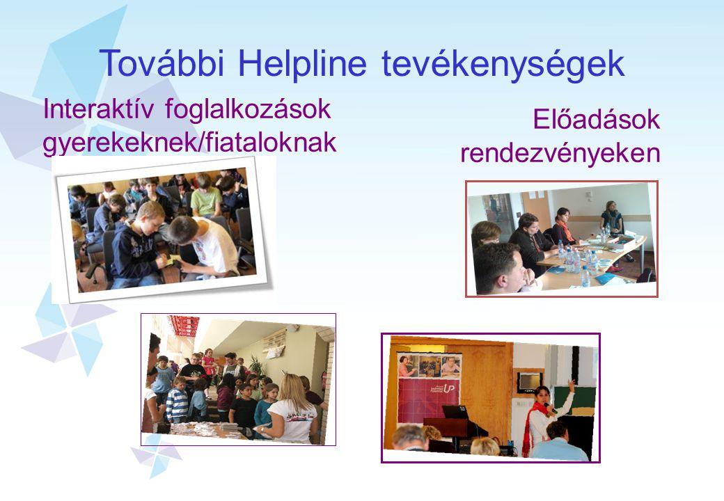 További Helpline tevékenységek