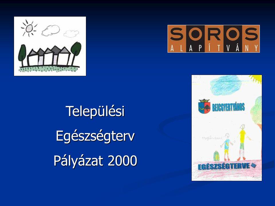 Települési Egészségterv Pályázat 2000