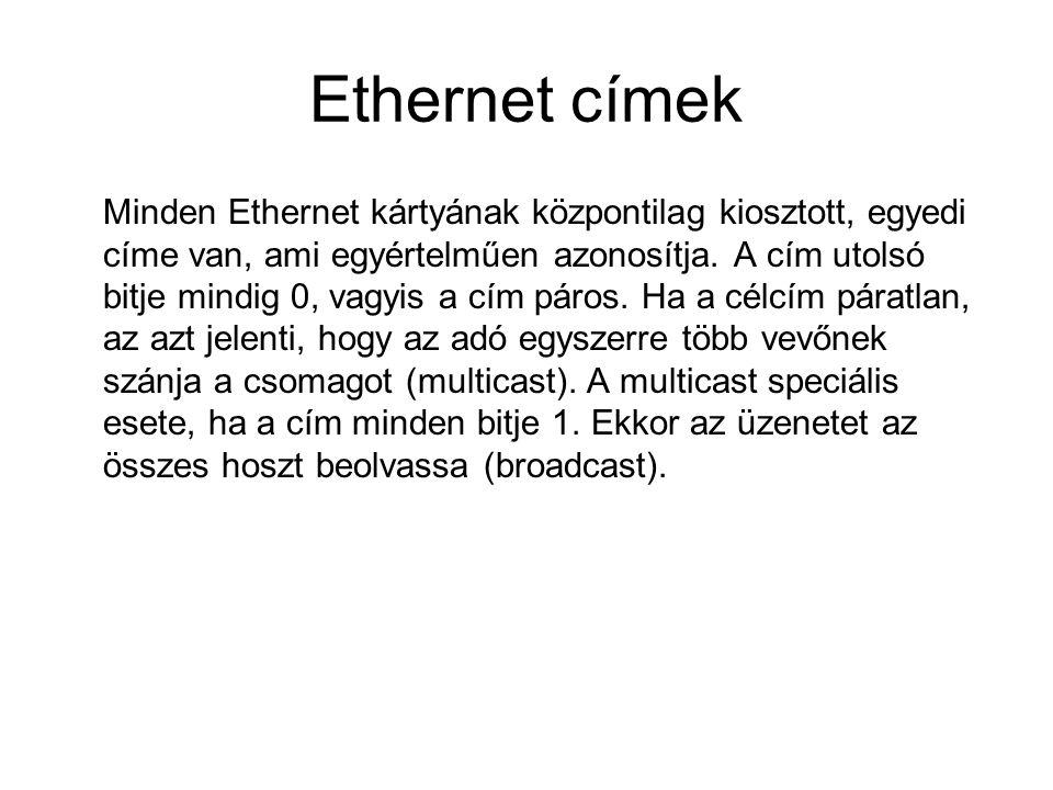 Ethernet címek