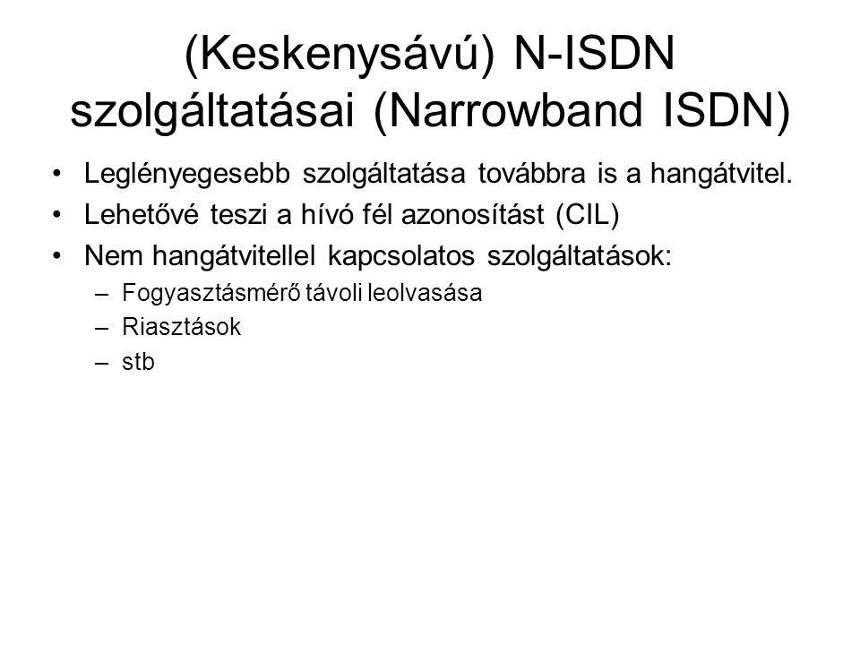 (Keskenysávú) N-ISDN szolgáltatásai (Narrowband ISDN)