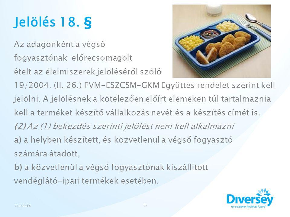 Jelölés 18. §