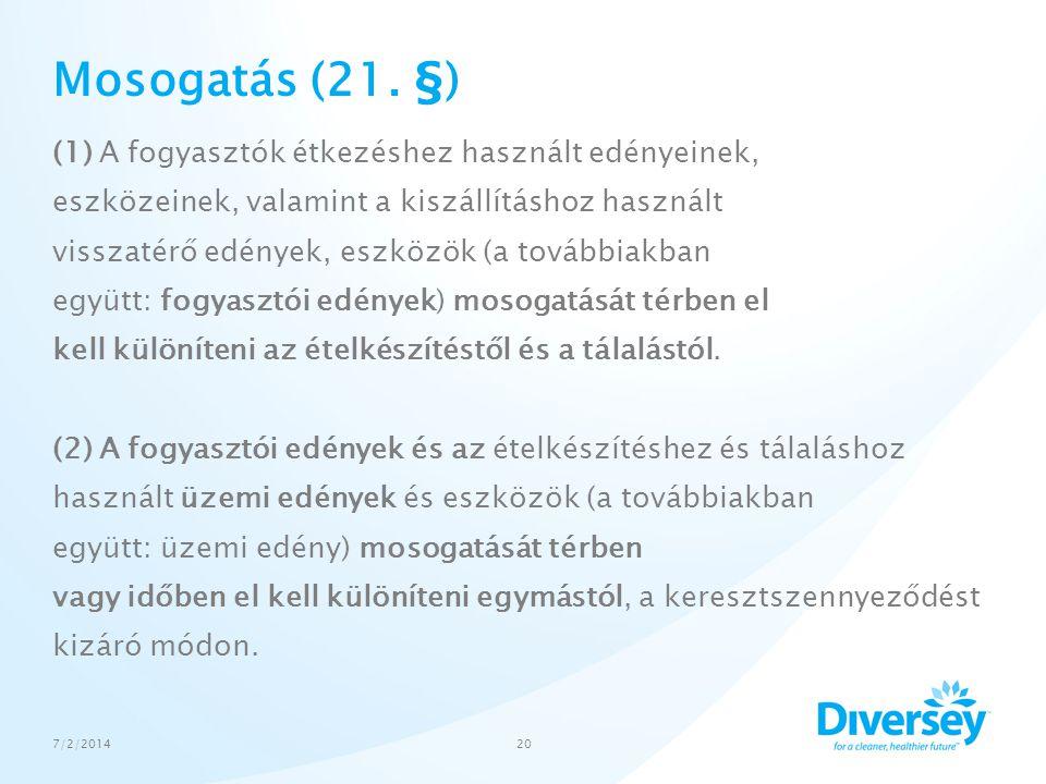 Mosogatás (21. §)