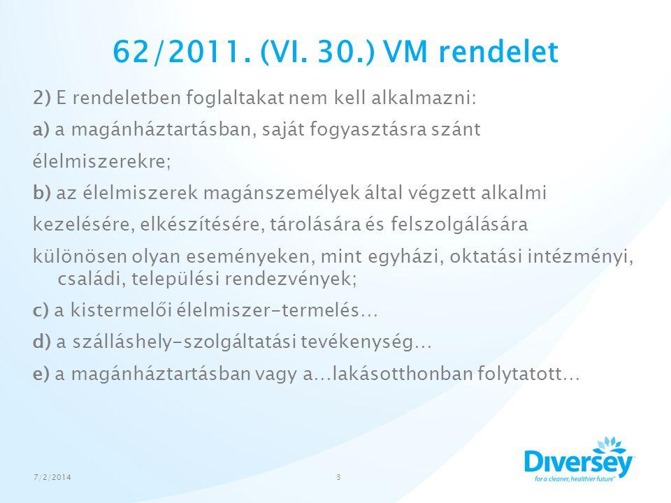 62/2011. (VI. 30.) VM rendelet