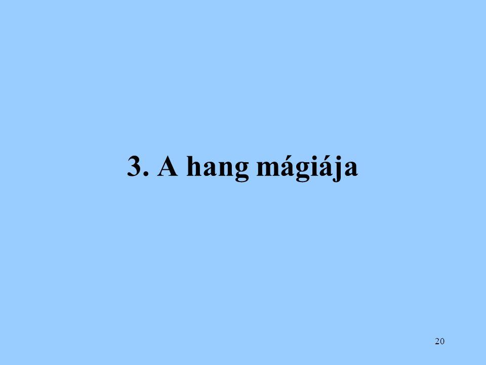 3. A hang mágiája