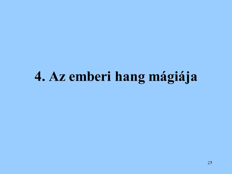 4. Az emberi hang mágiája